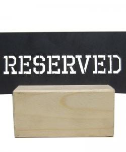 Metal Rezerve Yazısı