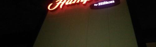 Ataköy Hampton By Hilton İçin Tasarlanan Dış Cephe Yazısı Monte Edildi.
