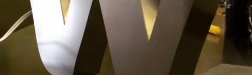 Almanya için paslanmaz çelik kutu harfler