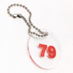 Transparent Cloakroom Keychain