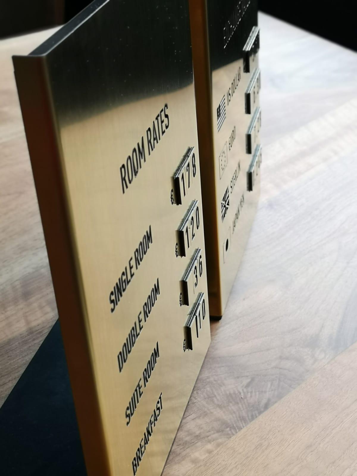 oda fiyatları panosu