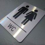 Paslanmaz Oyma Wc işareti