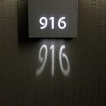 Duvar Yansıtmalı Oda Numarası