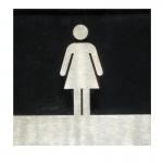Paslanmaz Bay & Bayan WC İşareti