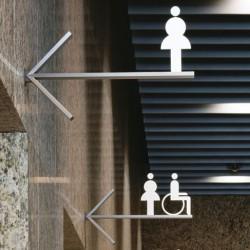 Paslanmaz Çelik WC Pictogram
