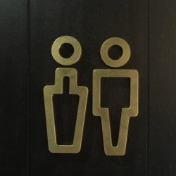 Lazer Kesim WC Pictogram