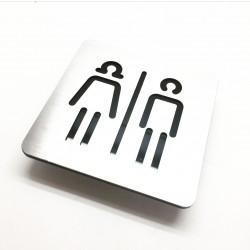 paslanmaz tuvalet işareti