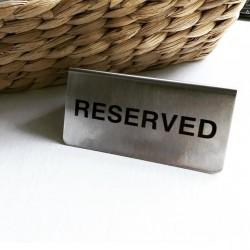 Reserved yazısı