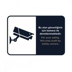 kamera uyarı levhası