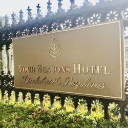 Giriş tabela four seasons hotel