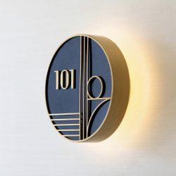 Özel tasarım oda kapı numarası