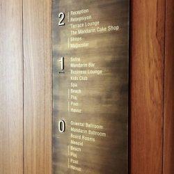 Kat yönlendirme tabelası
