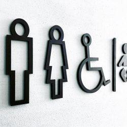 WC işareti seti