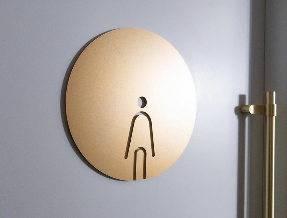 Metal WC İşareti