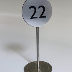 Metal Table Number
