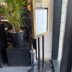 Brass Material Footed Menu